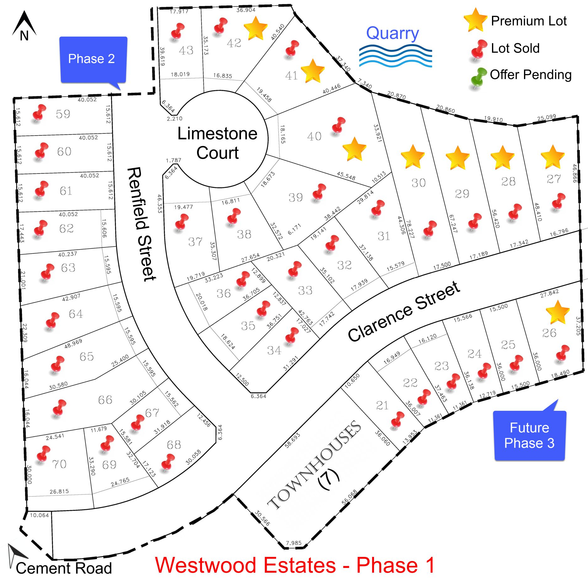 Westwood Estates Phase 1,land, lots for sale
